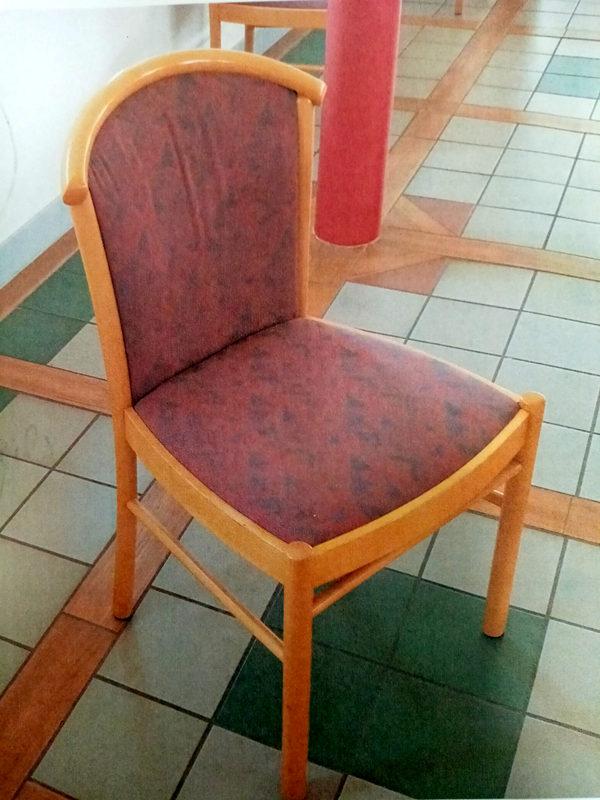Lot de 10 Chaises sans accoudoire assise tissu piètement