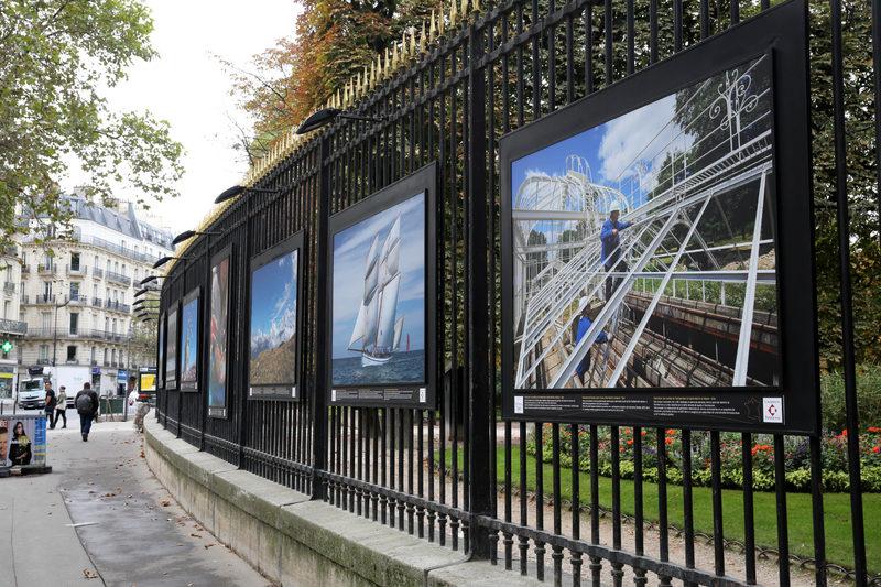 Lot de 10 panneaux d 39 exposition photographique jardin du - Exposition jardin du luxembourg ...