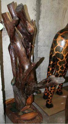 """Image du produit: """"Cacaoyer"""" Sculpture originale en bois"""