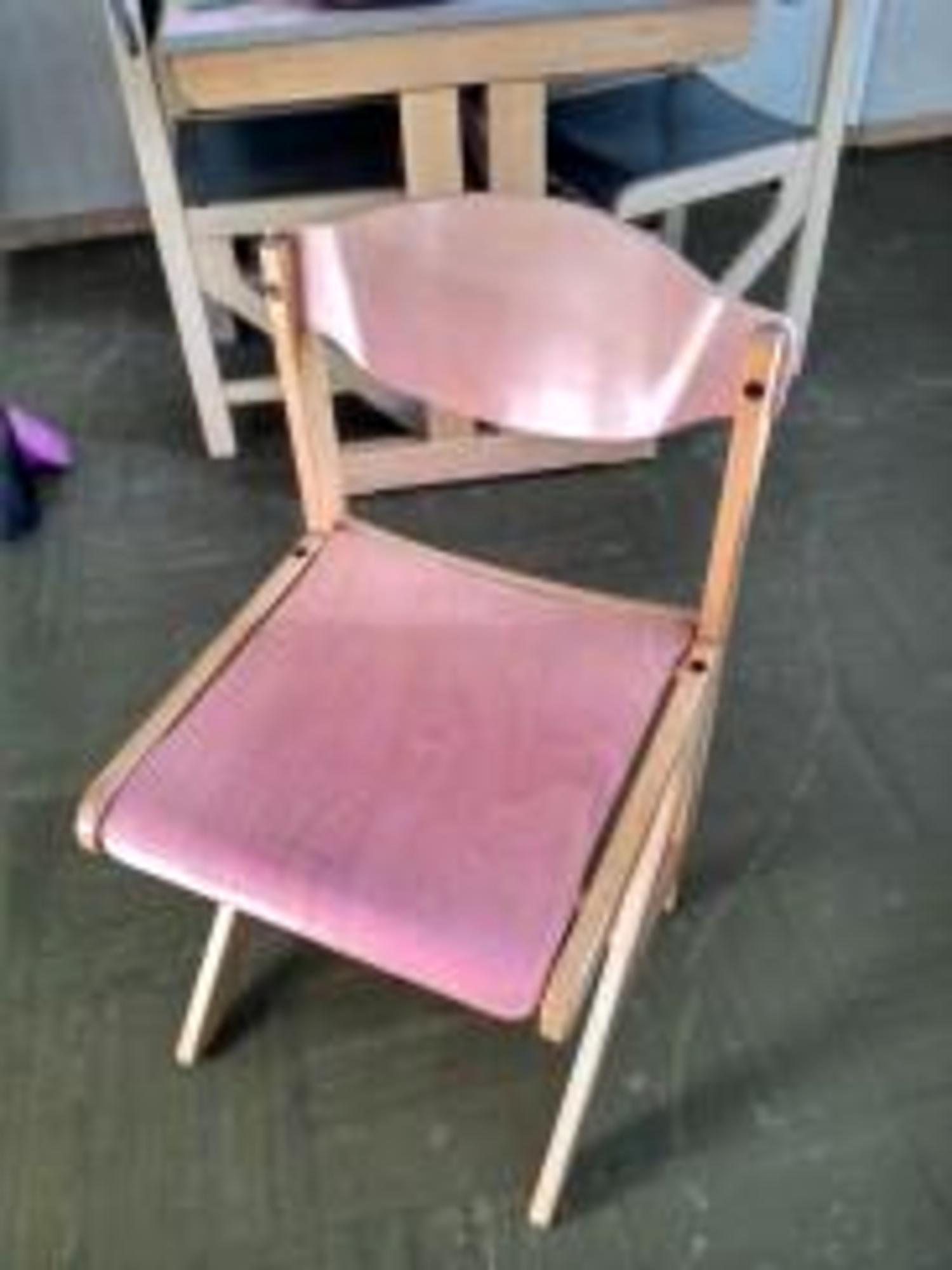 chaise de r fectoire en bois rev tement lisse lessivable bois chaise d 39 occasion aux ench res. Black Bedroom Furniture Sets. Home Design Ideas