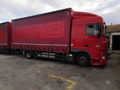 Camion-remorque DAF FA105 460cv - Carrosserie Bâchée réhaussable (2622 + 30377)